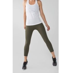 Lululemon All The Right Places Crop Dark Olive